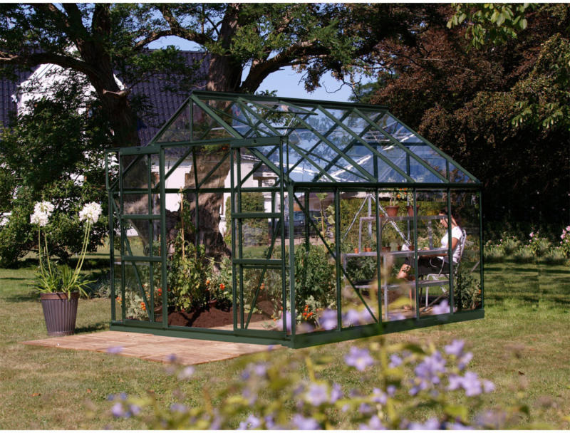 "Gewächshaus ""Mars 8300"", 8,3m², 3mm, Einscheibensicherheitsglas, grün gruen | 8,3 m² | Einscheibensicherheitsglas | 3 mm"