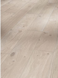 """Laminat """"Basic 200"""", Eiche Natur grau, Seidenmatte Struktur, 19,4x128,5 cm"""