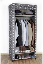 Textiler Kleiderschrank XXL, Sternedekor, 175x80x50 cm