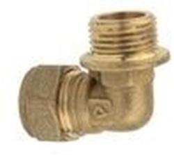"90°-Übergangswinkel 15 mm x ½"" AG, Kupfer"