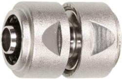 """Schlauchverbinder 1/2"""" 1/2"""" - 13mm MS Ni m. Spannmutter"""