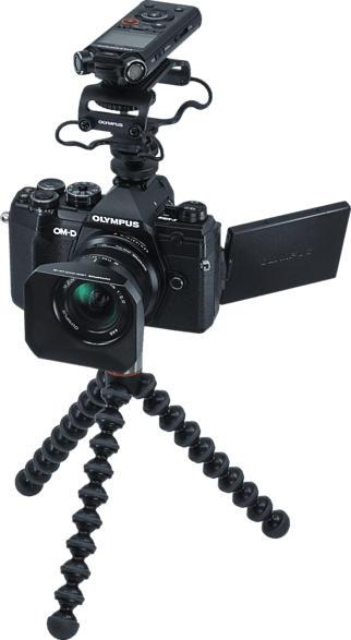 OLYMPUS E-M5III 12mm F2.0 Vlogger Kit + LS-P4 Spiegellose Systemkamera 20.4 Megapixel Megapixel mit Objektiv 12mm , 7.6 cm Display