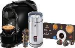 MediaMarkt TCHIBO CAFISSIMO Pure + Milchaufschäumer + 8 Kapseln Kapselmaschine Schwarz
