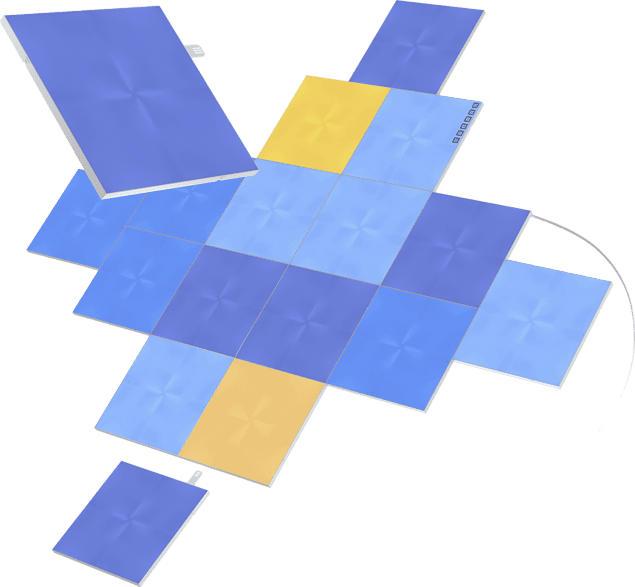 NANOLEAF Canvas Smarter Kit 17 Panels Vernetzte Innenbeleuchtung, Weiß