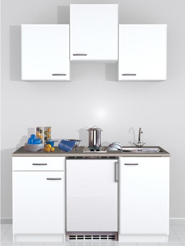 Flex-Well Classic Miniküche Wito 150 cm Weiß