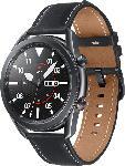 MediaMarkt SAMSUNG  Galaxy Watch 3 45 mm LTE & Bluetooth Smartwatch Edelstahl, Echtleder, Größe M/L (145 - 205 mm), Mystic Black/Black