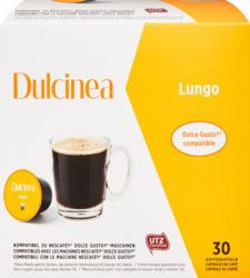 Dulcinea Kaffeekapseln Lungo, kompatibel zu Nescafé Dolce Gusto-Maschinen, 30 Kapseln