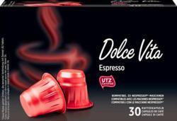 Capsules de café Dolce Vita Denner, Espresso, compatibles avec les machines Nespresso®, 30 capsules