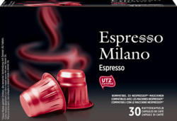 Denner Kaffeekapseln Espresso Milano, Espresso, kompatibel zu Nespresso®-Maschinen, 30 Kapseln
