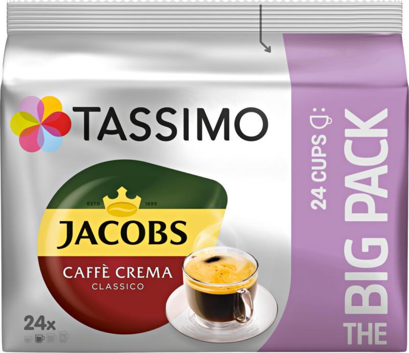 Tassimo Kaffeekapseln Jacobs Caffè Crema Classico, 24 Portionen