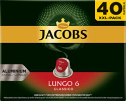 Capsules de café Lungo 6 Classico Jacobs, compatibles avec les machines Nespresso®, 40 capsules