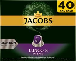 Jacobs Kaffeekapseln Lungo 8 Intenso, kompatibel mit Nespresso®-Maschinen, 40 Kapseln
