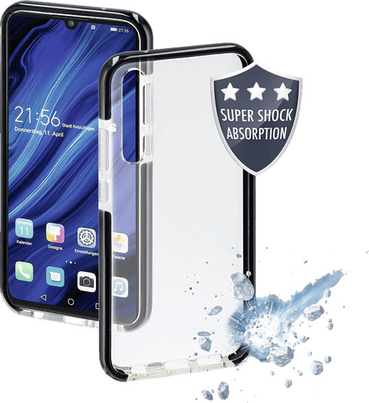 HAMA Protector , Backcover, Huawei, P30, Thermoplastisches Polyurethan, Schwarz/Transparent