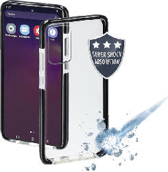 HAMA Protector , Backcover, Samsung, Galaxy S10 Lite, Thermoplastisches Polyurethan, Schwarz/Transparent