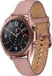 MediaMarkt SAMSUNG  Galaxy Watch 3 41 mm Bluetooth Smartwatch Edelstahl, Echtleder, Größe S/M (130-190 mm), Mystic Bronze/Pink
