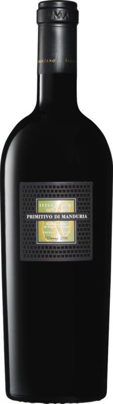 Cantine San Marzano Sessantanni Primitivo di Manduria DOP, 2017, Apulien, Italien, 75 cl