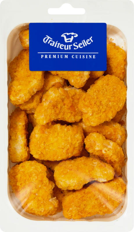 Traiteur Seiler Crunchy Chicken Nuggets, Brasilien, 500 g