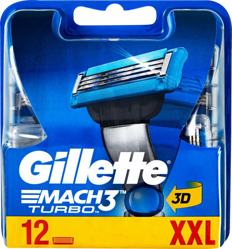 Gillette Rasierklingen Mach3 Turbo, 12 Stück