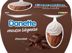 Mousse liégeoise Chocolat Danette Danone, 8 x 80 g