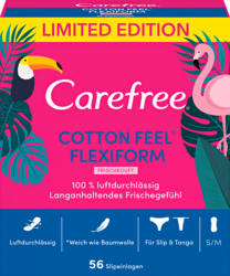 Protège-slips Carefree, Cotton Feel Flexiform, perméables à l'air, 56 pièces