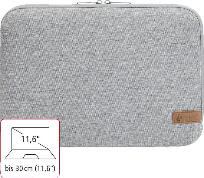 HAMA Jersey Notebooktasche, Sleeve, Hellgrau