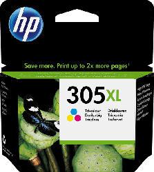 HP 305XL High Yield Tri-color Original Ink Cartridge (3YM63AE) Tintenpatrone Tinte auf Farbstoffbasis Cyan, Magenta, Gelb