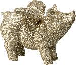 dm-drogerie markt Dekorieren & Einrichten Polyschwein geflügelt beglittert, champagner-farbig