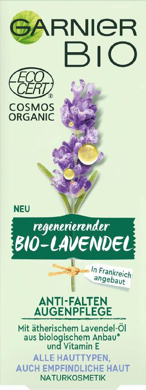 Garnier BIO Augencreme Anti-Falten Augenpflege Lavendel