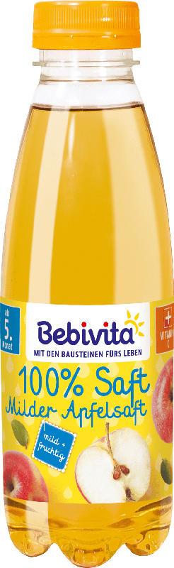 Bebivita Saft 100% Milder Apfelsaft nach dem 4. Monat/ ab dem 5.Monat