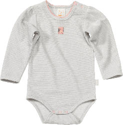 PUSBLU Baby Body, Gr. 98/104, in Bio-Baumwolle und recyceltem Polyester, grau