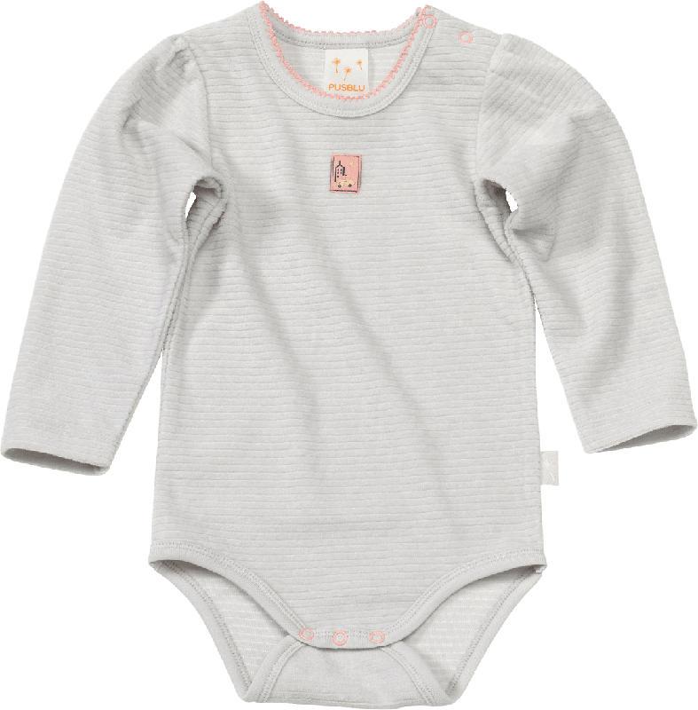 PUSBLU Baby Body, Gr. 74/80, in Bio-Baumwolle und recyceltem Polyester, grau