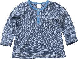 PUSBLU Kinder Langarmshirt, Gr. 98, in Baumwolle, blau