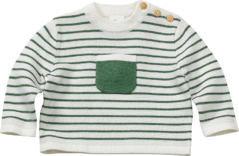 ALANA Baby Pullover, Gr. 68, in Bio-Baumwolle, grün
