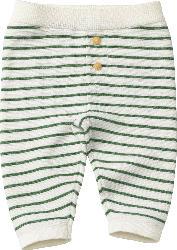 ALANA Baby Hose, Gr. 62, in Bio-Baumwolle, weiß, grün