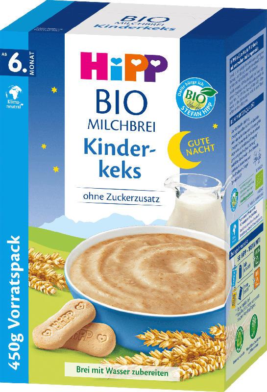 Hipp Abendbrei Milch Gute Nacht Bio Kinderkeks ab 6.Monat