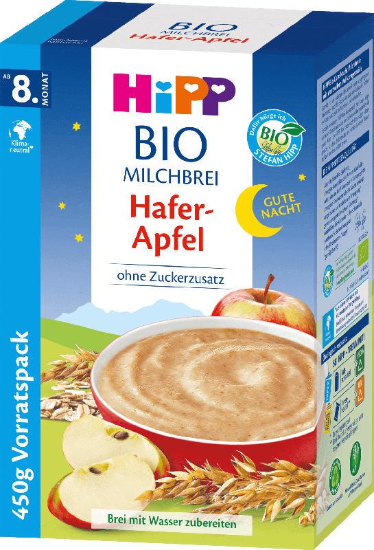 Hipp Abendbrei Milch Gute Nacht Bio Hafer Apfel ab 8.Monat