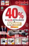 Opti Wohnwelt 40% in allen Abteilungen! - bis 30.01.2021