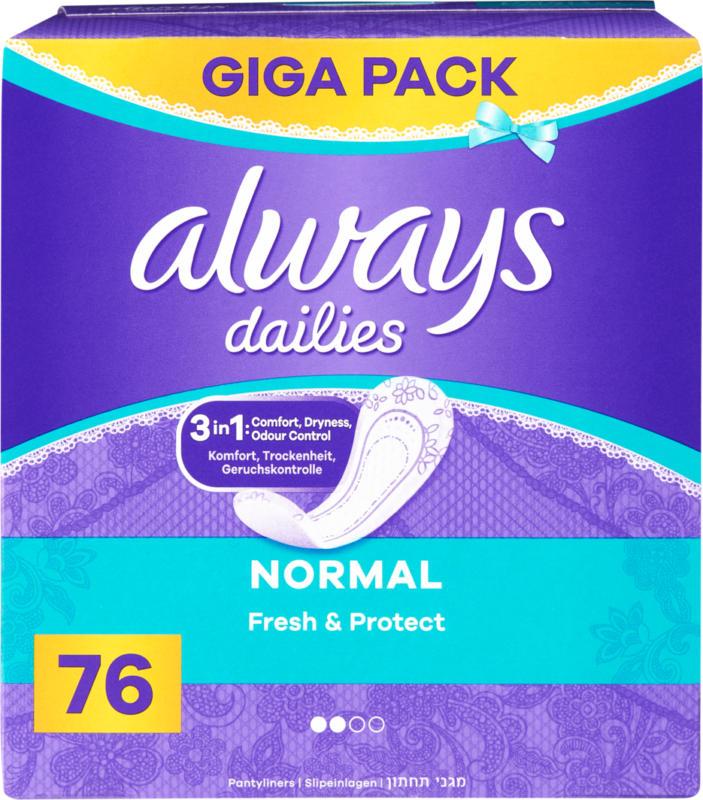 Salvaslip Fresh & Protect Always, Normal, 76 pezzi