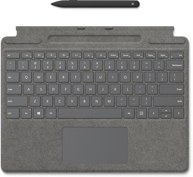 Surface Pro X Signature Keyboard mit Slim Pen Bundle, DE, Platin (25O-00065)
