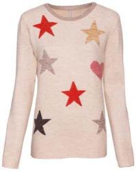 Damen-Jaquardpullover mit Sternen