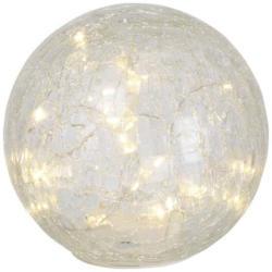 LED-Glas-Kugel in toller Crack-Optik, Ø ca. 15cm