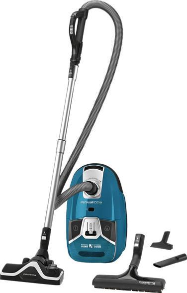 ROWENTA RO6361EA Silence Force Compact 4A+ Parkett, Bodenstaubsauger, Staubsauger, 550 Watt, Blau
