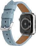 MediaMarkt ARTWIZZ WatchBand Leather, Ersatzarmband, Apple, Watch Series 1-3 (38mm) & Watch Series 4 (40 mm), Light Blue