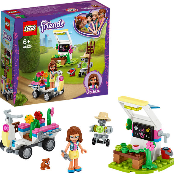 LEGO 41425 Olivias Blumengarten Bausatz, Mehrfarbig