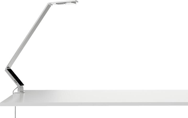 LUCTRA Table Pro Linear mit Klemme Schreibtischleuchte, Aluminium
