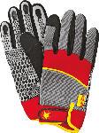 MediaMarkt WOLF GH-M 8 Geräte-Handschuhe, Grau/Rot/Gelb