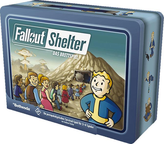 FANTASY FLIGHT GAMES Fallout Shelter: Das Brettspiel Gesellschaftsspiel, Mehrfarbig
