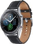 MediaMarkt SAMSUNG  Galaxy Watch 3 45 mm LTE & Bluetooth Smartwatch Edelstahl, Echtleder, Größe M/L (145 - 205 mm), Mystic Silver/Black
