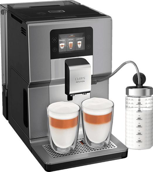 KRUPS EA 875 E Intuition Preference+ Kaffeevollautomat Silber