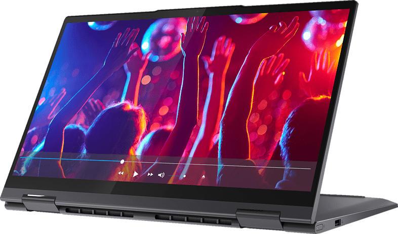 LENOVO Yoga 7i, Convertible mit 14 Zoll Display, Core™ i5 Prozessor, 8 GB RAM, 512 GB SSD, Intel Iris Xe Grafik, Schiefergrau